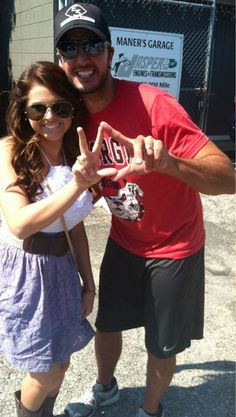 Luke Bryan showing his Kappa Delta love :) I wonder how many times he gets asked to throw up sorority letters