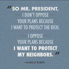 Marco Rubio. Yes, just, YES.