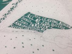 Making a start on the original paper cut version of the Rob Ryan wrapping paper for BUST London Craftacular.