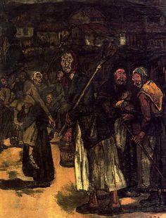 1915 Máscaras de aldea. JOsé Gutiérrez Solana