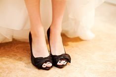 Is it bad that I like black shoes under a wedding dress?
