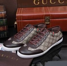 Gucci Lace-up Sneaker with Web Detail