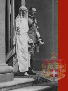 HRH Princess Jolanda and her husband, Count Carlo Calvi di Bergolo, after their wedding ceremony at the Chapel of the Quirinale Palace the 9th April 1923, the first time the chapel was used since the occupation of Rome in 1870. Princess Jolanda Was the only child of the Italian royal couple that married out of the European Royal Families