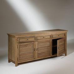 ROBIN DES BOIS - Buffet, chêne, 3 portes, 3 tiroirs, CHARLES | La Redoute