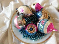 Vintage Christmas Ornaments Poland Teardrops and by SomedayViolet, $48.00