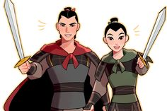 My lovely disney couple Ping and Shang :Q