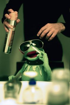 Sometimes it's easy being smooth....I love Kermit!