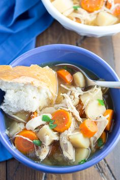 This Slow Cooker Maple Chicken Stew is full of healthy root vegetables and flavor! It cooks all day in your crock pot, so it's perfect for busy workdays. Slow Cooker Chicken Stew, Slow Cooker Chicken Healthy, Stew Chicken Recipe, Easy Chicken Recipes, Easy Dinner Recipes, Dinner Ideas, Chicken Soups, Crockpot Dump Recipes, Cooker Recipes