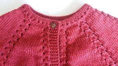 Knitting Pattern Baby Cardigan Cardigan Bebe, Knitted Baby Cardigan, Baby Pullover, Cardigan Pattern, Knitting For Kids, Baby Knitting Patterns, Baby Patterns, Girls Sweaters, Baby Sweaters