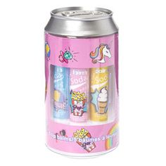 Soda Can Flavored Lip Balm Set,