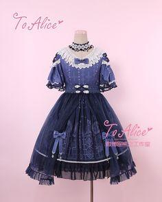 【To Alice】L311原创Lolita虔诚之心教堂窗印花蕾丝带纱op连衣裙-淘宝网全球站