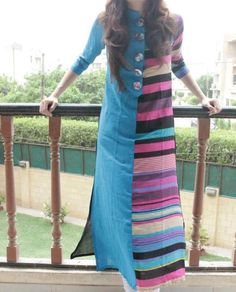 Chinese Collar Long kurti .. Office wear.. get it o Done at http://mytailor.in/get-it-stitched/