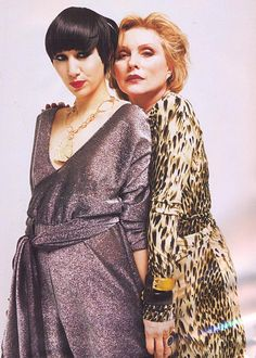 Women in rock - Karen O of the Yeah Yeah Yeahs and Debbie Harry of Blondie