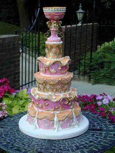 baroque cake | baroque wedding cake weddingsincolour baroque wedding cakes wedbook ...