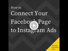 How to Connect Your Facebook Page to Instagram Ads