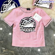 Chanel Shirt, Apparel Design, Slipper, Pink Blue, Streetwear, Shop Now, Facebook, Nice, Tees
