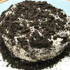 Dirty Snow Cake Allrecipes.com - I would make the cake and then crumble it.  Mix with cool whip and crushed oreos.  Drizzle choc over individual servings