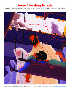 Jesus Healed the Paralytic Jigsaw Puzzle Bible School Games, Bible Activities For Kids, Bible Stories For Kids, Jesus Stories, Church Activities, Jesus Crafts, Bible Crafts, Vbs Crafts, Sunday School Lessons