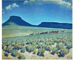 Wild Horse Country Humboldt County Nevada By Maynard Dixon . Truly Art Offers Giclee Unframed Prints on Paper, Canvas Art, and Framed Art in all our Collections. Maynard Dixon, Desert Dream, Landscape Artwork, Southwest Art, Watercolor Trees, Horse Art, Wild Horses, Pictures To Paint, American Artists