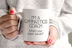 Gymnastics Coach Gift  Christmas Gift for by TheCoffeeCorner