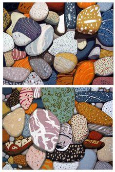Abstract rock drawing.