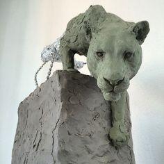 Work in progress. Pottery Sculpture, Sculpture Art, Sculpture Ideas, Wild Dogs, Animal Sculptures, Figurative Art, Cool Art, Awesome Art, Lions