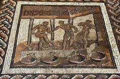 Calendrier agricole de St-Romain-en-Gal - IIIès. - le foulage du raisin - Musée archéologique de St-Germain-en-Laye (Ile de Frane)