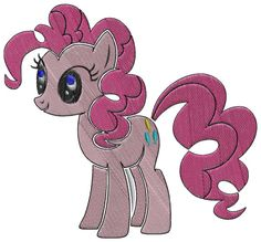 PINKIEPIE applique machine embroidery design
