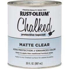 Rustoleum Chalked topcoat