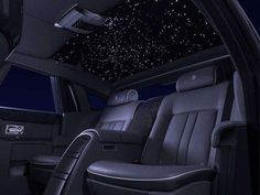 Image 2 of 3. What makes the Rolls-Royce Celestial Phantom special is its dedication to the stars. For starters, the paint has millions of small particles of glass in it, much like the night sky has millions upon millions of stars splashed across it. The interior is where things really get awesome.