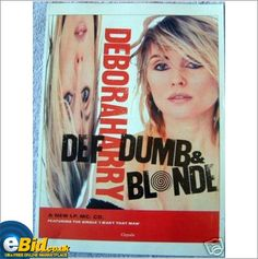 Blondie Debbie Harry. Advert Def Dumb And Blonde. Ad 2 from Smash Hits Magazine