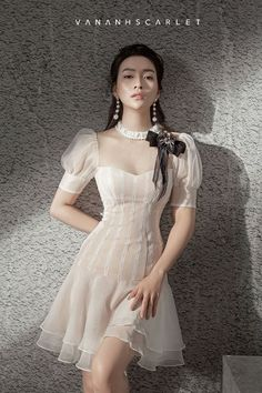 Sleeves design is an important aspect of any clothing's item-such as blouse, top, or dresses we create. Classy Dress, Classy Outfits, Pretty Outfits, Pretty Dresses, Beautiful Dresses, Ulzzang Fashion, Asian Fashion, Look Fashion, Girl Fashion