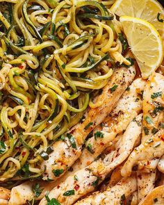 Sunday Dinner Ideas Discover Lemon Garlic Butter Steak with Zucchini Noodles Cowboy Butter Chicken and Zucchini Noodles - This GORGEOUS paleo dinner idea is simple easily customizable and pretty much fail-proof. Zucchini Dinner Recipes, Zucchini Noodle Recipes, Healthy Zucchini, Paleo Dinner, Zucchini Noodles, Lemon Zucchini, Dinner Healthy, Healthy Dinners, Recipes Dinner