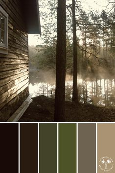 Hazy Lakehouse | Color Inspiration | Color Palette Inspiration Colour Pallette, Colour Schemes, Color Combos, Room Colors, House Colors, Paint Colors, Colours That Go Together, Pallet Painting, Design Seeds