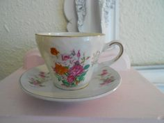 Small Pretty Shabby Chic Teacup with by theamericanhomemaker, $5.00