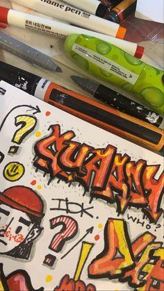 Graffiti Writing, Street Art Graffiti, Graffiti Doodles, Comic Drawing, Photo Wall Collage, Fairy Art, Tag Art, Installation Art, Art Inspo