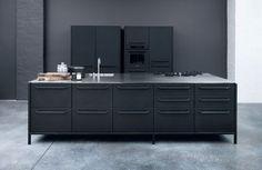 Et toujours : Une cuisine esprit industriel - 50 modèles de cuisine à suivre : la nouvelle sélection - CôtéMaison.fr