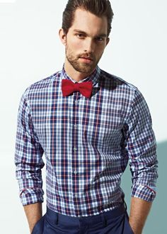 Well fitted shirt and a bow tie