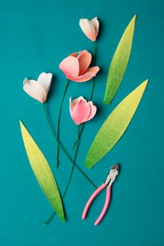 How to make a paper flower centerpiece for spring