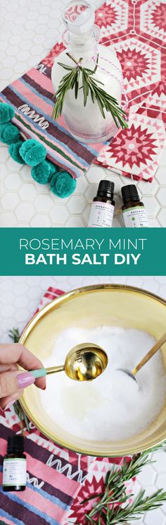 To use, simply pour 1 cup of the bath salts into a warm bath and stir with your hand to disperse the Diy Detox Bath Salts, Mint, Boho Diy, Lotion Bars, Diy Beauty, Homemade Beauty, Beauty Tips, Beauty Products, Beauty Hacks