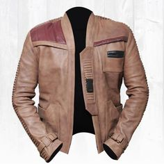 Finn Star Wars Poe Dameron John Boyega Leather Jacket - Deal Offer