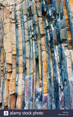 Geological Rock Strata At Sandymouth Bay In North Cornwall England Stock Photo…
