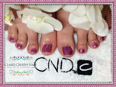 CND Shellac with custom blend Lecenté holographic glitters. By Claire's Creative Nails, Northampton. Call or text; 07752 397245 to book your appointment. #shellac #northampton #TwinkleToes #cnd #Lecenté #NailSalon #Pedicure