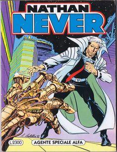 NATHAN NEVER #1. Agente Speciale Alfa. [1991.06,01. #AntonioSERRA; Claudio #CASTELLINI]   Non potevo non utilizzare la copertina da me vissuta: le pieghe che hanno segnato le letture di emozioni, avventure, vite nell'ALFAVERSE (1286x1664).   © Sergio #BONELLI Editore   #NathanNever; #fantascienza, #sciencefiction, #scifi, #sf; #Asimov, #treleggi, #robotica; #adventure, #avventura; #drammatico, #drama...   Per acquistare #NN1: ►…