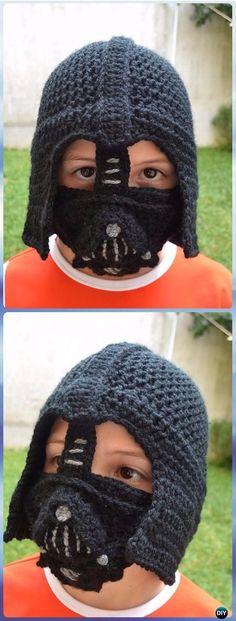 Crochet Darth Vader Hat by Juli Roldan Voncannon Paid Pattern ...