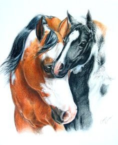The Colors of Love - mare and foal art
