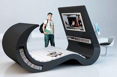 teen bed with desk   ... teens computer desk top clean and create functional teenage room