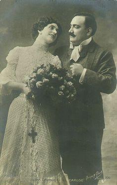 Portrait of Lina Cavalieri and Enrico Caruso, c. 1907