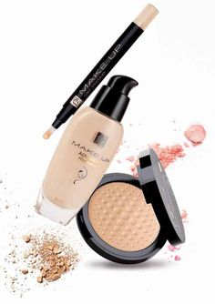 Light concealer,£12.99 in the colours: •porcelain beige •medium beige Advanced foundation,£11.99 in the shades: •alabaster •Ivory •beige nude •natural beige •warm walnut •ginger cake Mineral Powder Illuminating Effect,£8.99 in the shade opal. Fm Cosmetics, Mask Makeup, Mineral Powder, Make Up Collection, Plastic Surgery, Concealer, Sensitive Skin, Mascara, Minerals