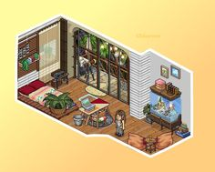 #Habbo #Pixel #Art #Details #Build #Virtual Habbo Hotel, Isometric Art, Small Canvas Art, Pretty Room, Cute House, Summer Vibes, Pixel Art, Game Art, Rum